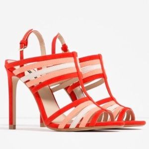 NWT || ZARA Multicolor Strappy Heeled Sandals